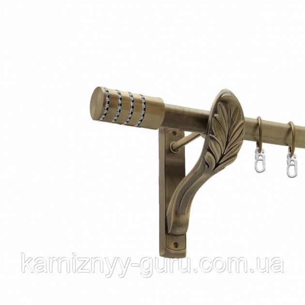 Карниз для штор ø 25 мм, одинарный, наконечник Барамелла