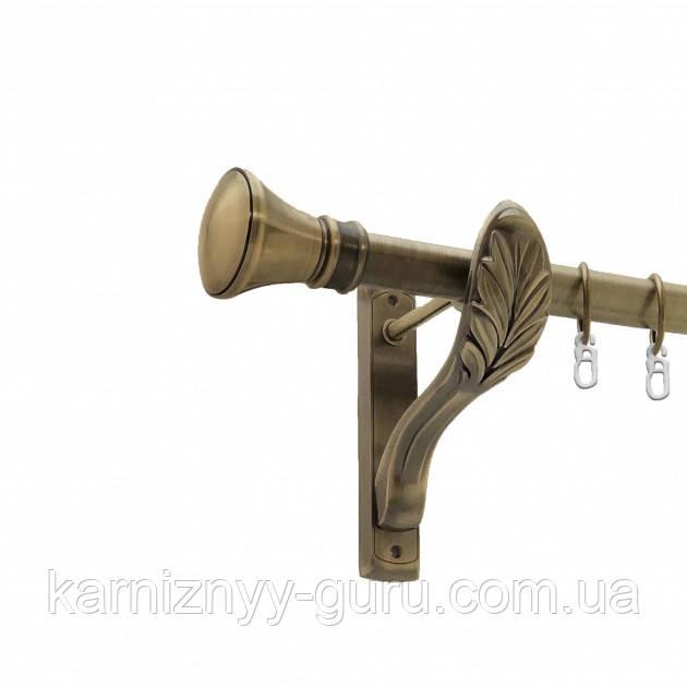 Карниз для штор ø 25 мм, одинарный, наконечник Люксор