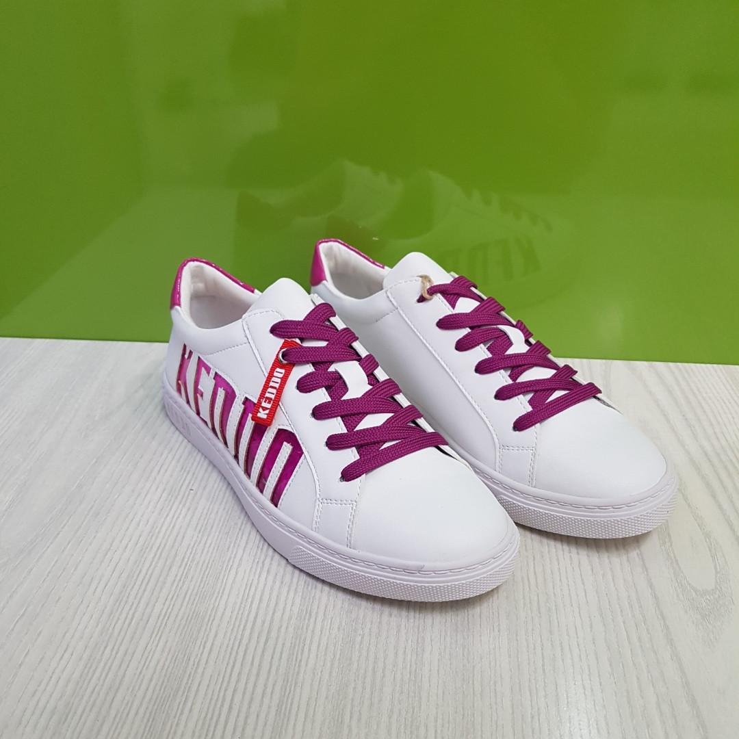 Кросівки жіночі KEDDO білі/фуксія