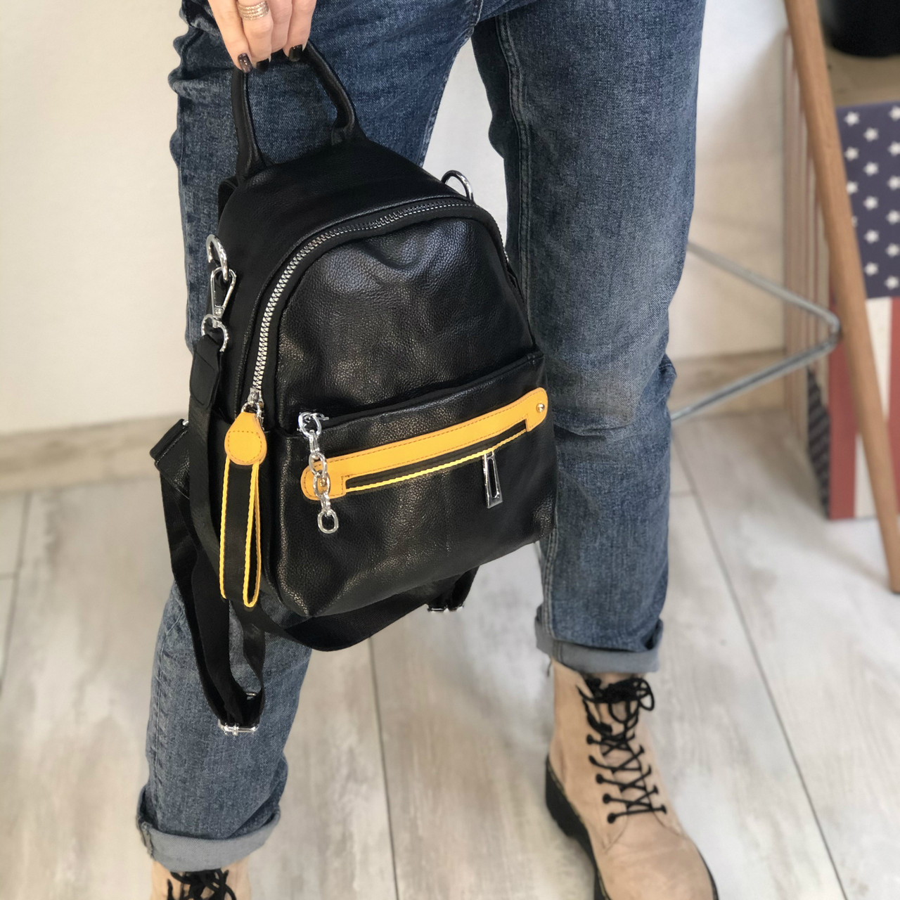 Маленький рюкзак кожзам