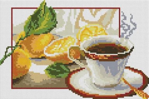 CF-154 Чай с лимоном. Набор алмазной мозаики (20 х 30)