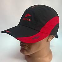 Бейсболка мужская из плащевки спорт 622/4 черный с красным, 60 размер Эллипс