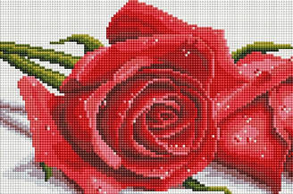 """Набір алмазної мозаїки """"Троянди"""" (20 х 30)"""