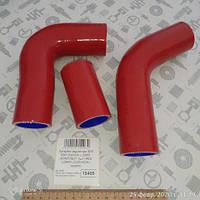 Патрубок радиатора ЗИЛ 5301 БЫЧОК с 2006г. (КОМПЛЕКТ 3шт) RED LORRY (СИЛИКОН) (5301-1303025/10RED LORRY)
