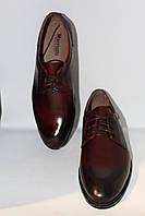 Туфли кожаные бордовые