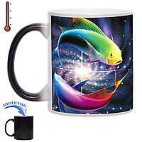 Чашка-хамелеон кольорові Рибки 330 мл, фото 1