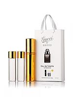 Міні-парфуми Gucci by Gucci Pour Homme, чоловічий 3х15 мл