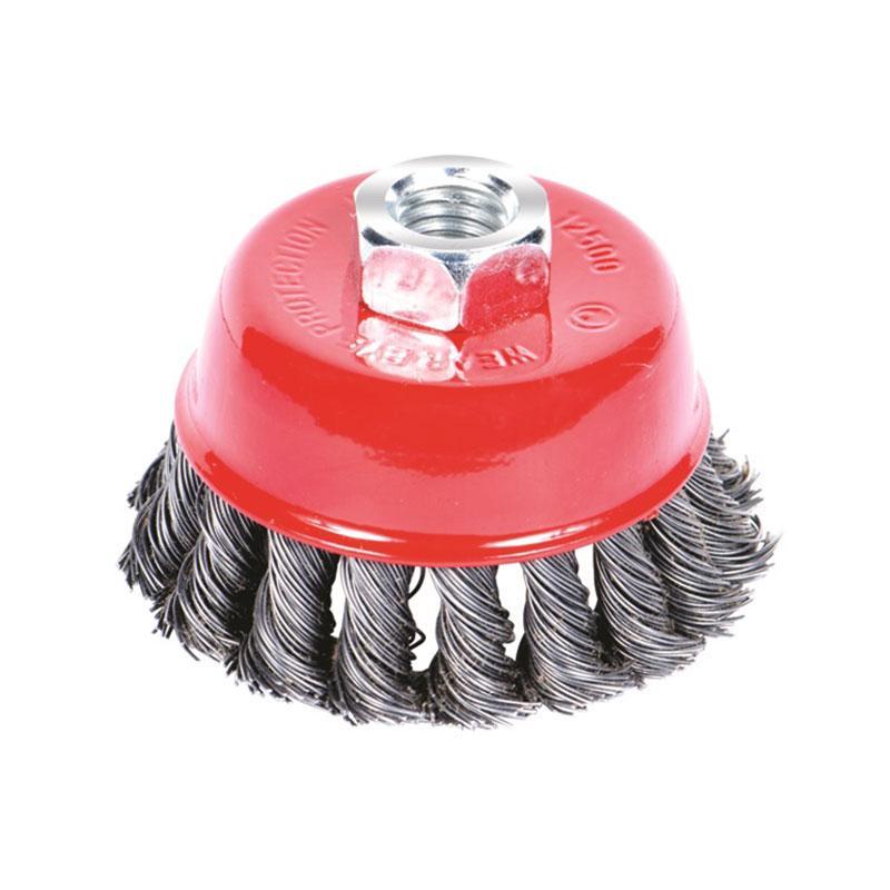 Щетка проволочная чашеобразная Ø85мм М14×2мм (стальная витая) SIGMA (9026081)