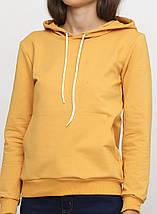 Худи женский с капюшоном, цвет горчичный, фото 3