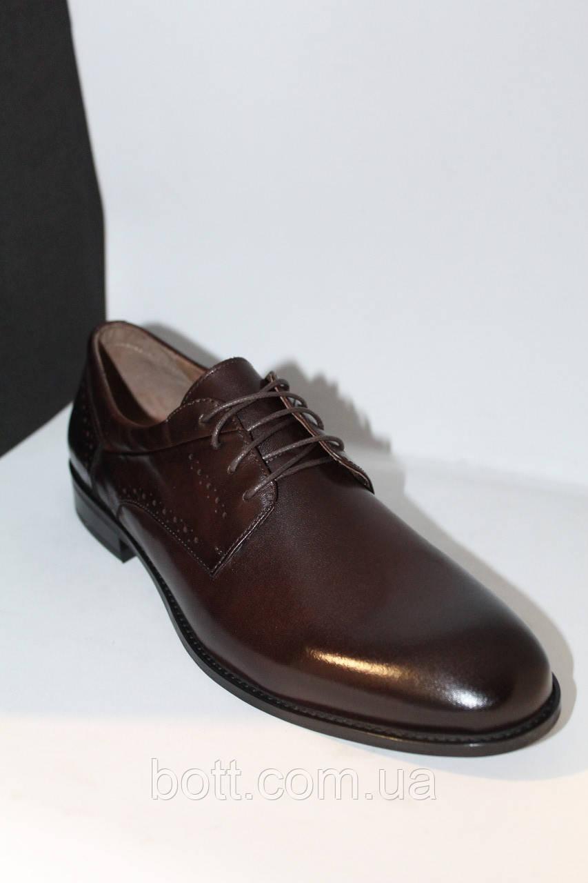 Туфли мужские весенние кожаные коричневые