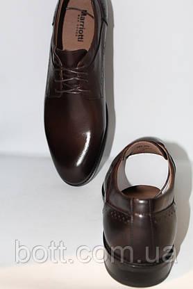 Туфли мужские весенние кожаные коричневые, фото 2