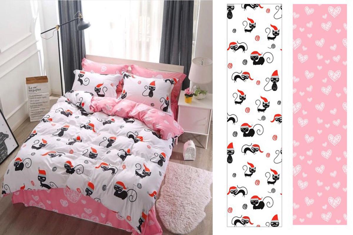 Двуспальный комплект постельного белья евро 200*220 хлопок  (14082) TM KRISPOL Украина