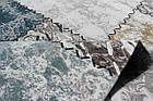 Ковер современный SAHRA 0163A 1,6Х2,3 БЕЛЫЙ овал, фото 4