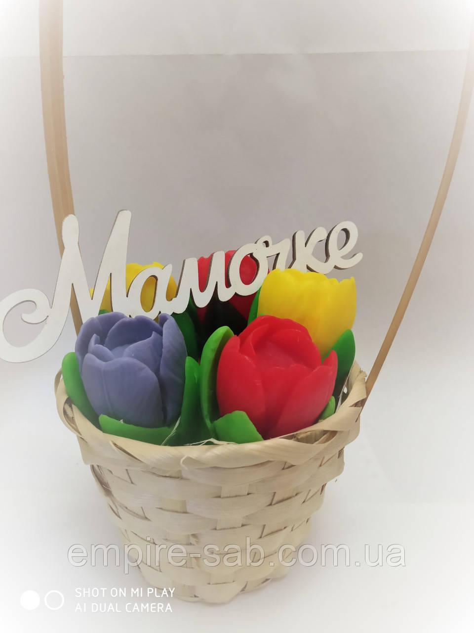 Набор мыла «Корзинка с тюльпанами»