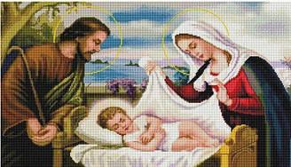 """Набір алмазної мозаїки """"Святе Сімейство"""" (40 х 70)"""