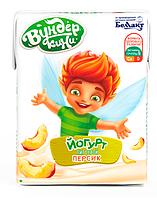 """Йогурт питьевой, обогащенный витаминами В1, В6, D и кальцием, """"Персик"""""""