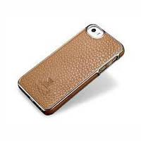Накладка iPhone 5/5S - Xoomz Litchi Pattern Leather Electroplating кофе. красный