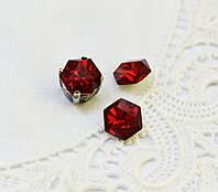 Стразы стеклянные 8 мм (SS39), красные
