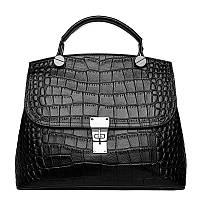Женская кожаная черная сумка через плече, опт, фото 1