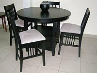 Барный комплект стол барный кухонный и 4 барных стула из натурального дерева Гевеи 783AG1-L