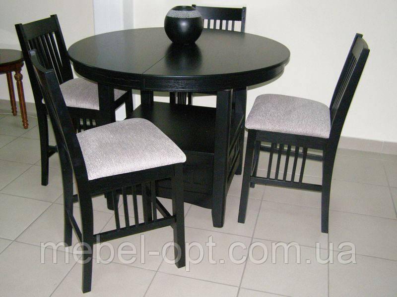 Барный комплект стол барный кухонный и 4 барных стула из натурального дерева Гевеи 783AG1-L - Мебель опт в Киеве