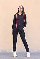 Женский спортивный костюм, размер S(42-44), M(44-46), цвет черный