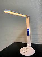 Настольная светодиодная лампа 10 Watt сенсорная белая