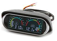 Цифровой  датчик температуры воды и вольтметр 2 в 1, 12 В, 24 В ЖК-дисплей для легковых и грузовых автомобилей
