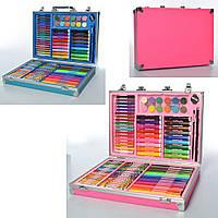Набор для творчества MK 2454 карандаши, акварельные краски, фломастеры, мелки в чемодане