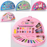 Набор для творчества рисования MK 3918-2 акварельные краски, фломастеры, карандаши, 4вида, в пенале, 38-20-4см