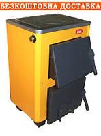 Твердопаливний котел Огонек з плитою КОТВ- 16 кВт (сталь 4 мм)