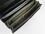 Деловой портфель VERSO из эко кожи и нейлона Черный (B055), фото 5