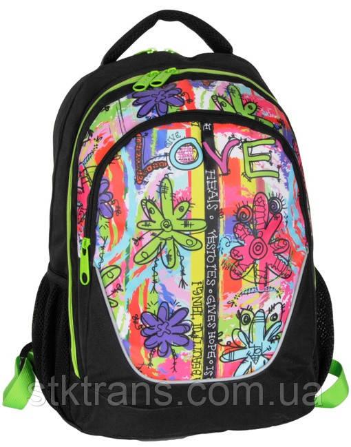 Молодежный рюкзак PASO с абстракцией 21 л Черный (BDC-367)