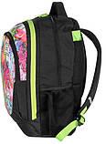 Молодежный рюкзак PASO с абстракцией 21 л Черный (BDC-367), фото 3