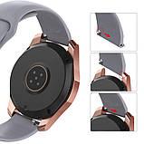 Ремешок BeWatch силиконовый для Samsung Galaxy Watch 46 мм Серый (1020304), фото 3
