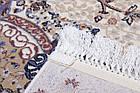 Коврик восточная классика SHAHNAMEH 8513C 1,5Х2,3 Белый овал, фото 2