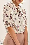 Шелковая блуза свободного кроя с цветочным принтом, фото 4