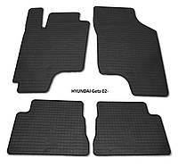 Резиновые автомобильные коврики в салон HYUNDAI Getz 2002 хюндай гетз Stingray
