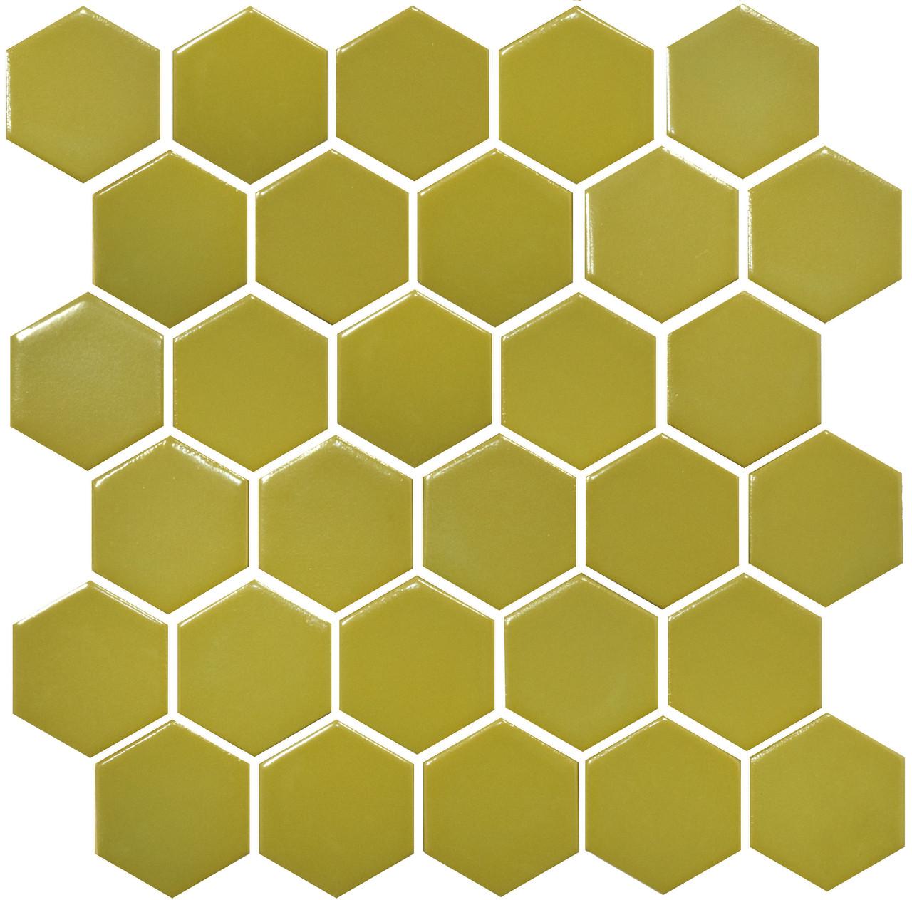 Мозаика Котто Керамика H 6016 Hexagon Olive 295×295 мм