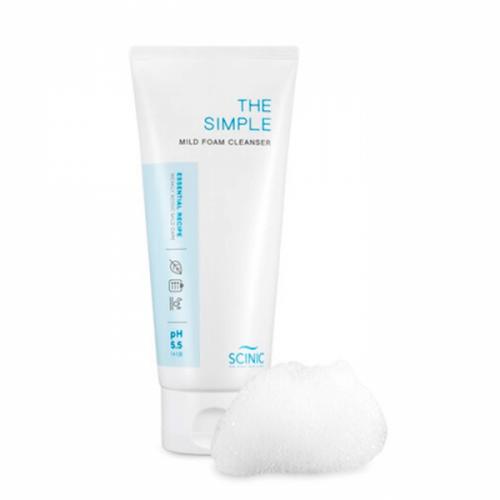 Слабокислотная пенка для умывания Scinic The Simple Mild Foam Cleanser Объем 120 мл