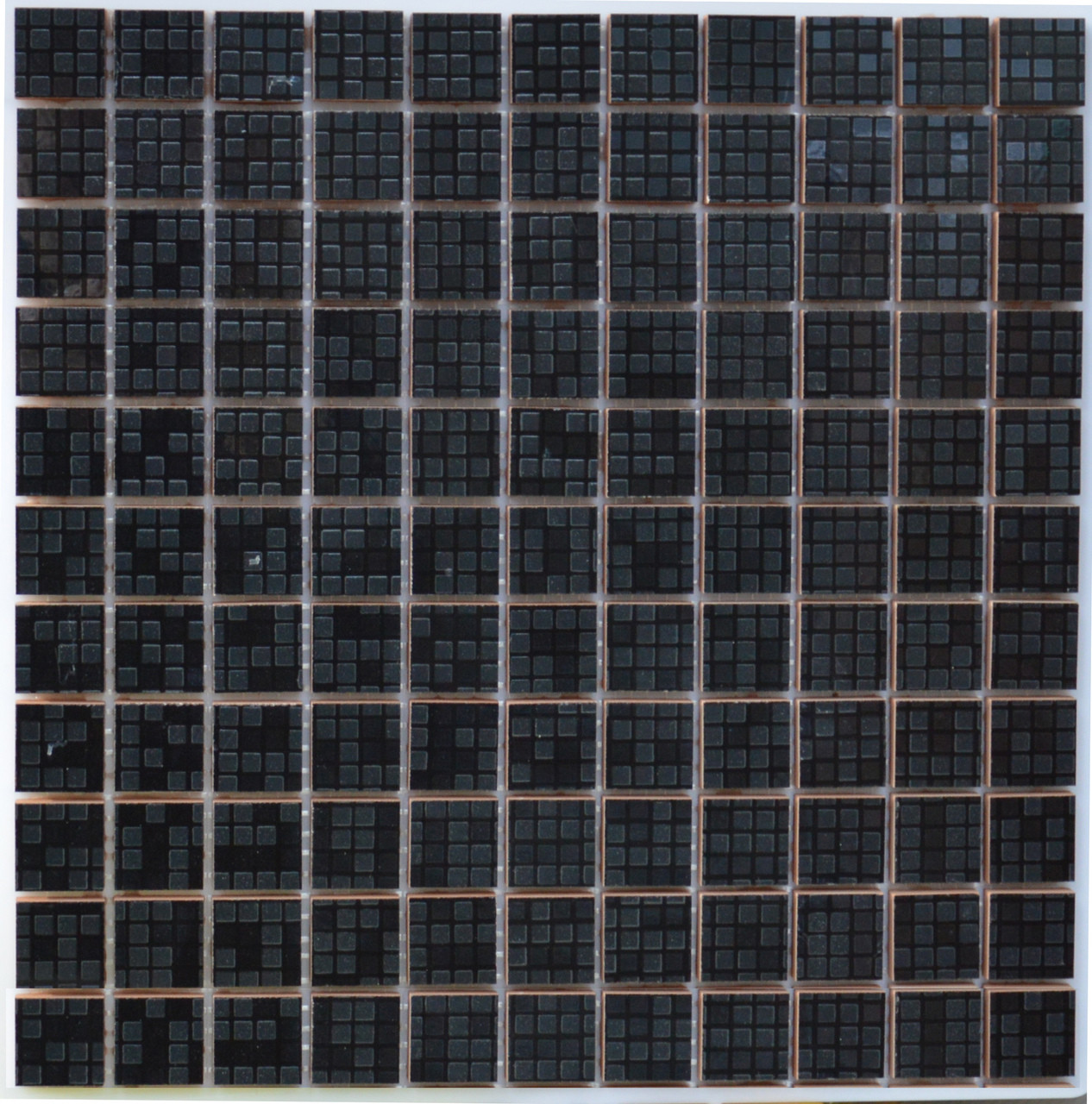 Мозаика Котто Керамика СМ 3039 С Pixel Black 300×300 мм