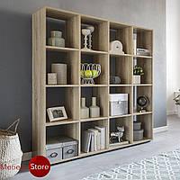 Стеллаж для дома, полка для книг и игрушек, разделитель комнаты на 16 ячеек, книжный шкаф G0011