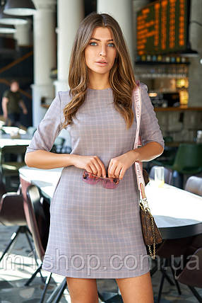 Универсальное красивое женское платье в мелкую клетку (Гарсия jd), фото 2