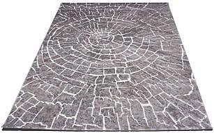 Коврик современный SOFIA 7844a 0,8Х1,5 СЕРЫЙ прямоугольник