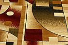 Дорожка современный SUPER ELMAS 4077A 3Х2 Бежевый с красным , фото 4