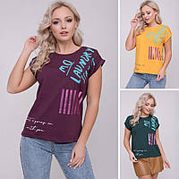 Женская футболка в разных цветах, фото 1