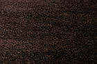 Коврик с длинным ворсом SUPERSHINE-5c R001d 0,8Х1,5 Коричневый прямоугольник, фото 2
