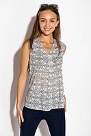 Блуза женская 516F484 цвет Серо-белый