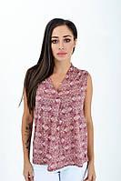 Блуза женская 516F484 цвет Бордово-молочный