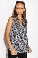Блуза женская 516F483 цвет Сине-молочный